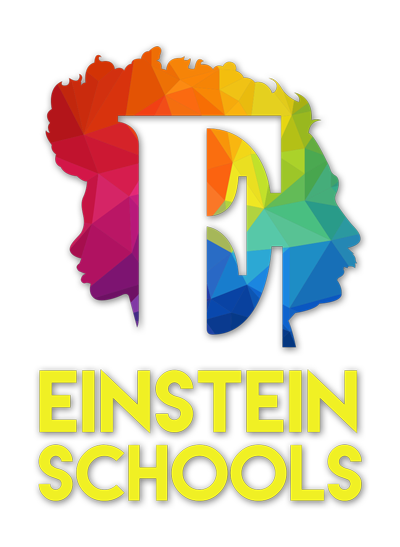 Einstein Schools logo showing profile of Einstein and a female youth